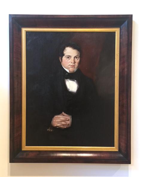 Joseph Backler, Henry Johnson c1843, oil on canvas. Benalla Art Gallery Collection