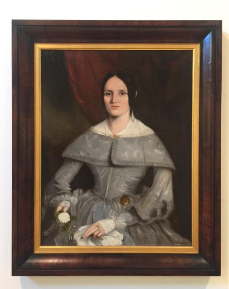 Joseph Backler, Caroline Johnson c1843, oil on canvas. Benalla Art Gallery Collection